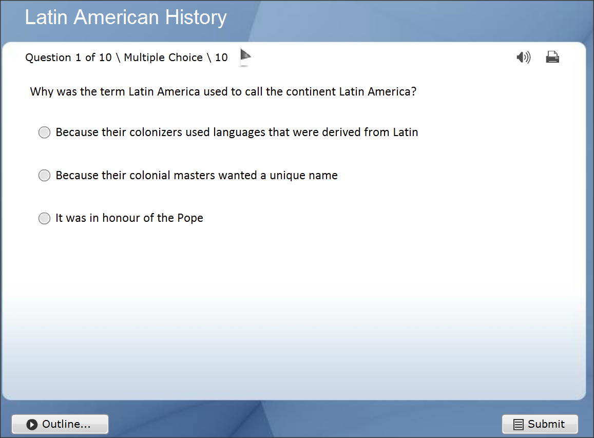History of Latin America- Interactive Trivia Quizzes Online