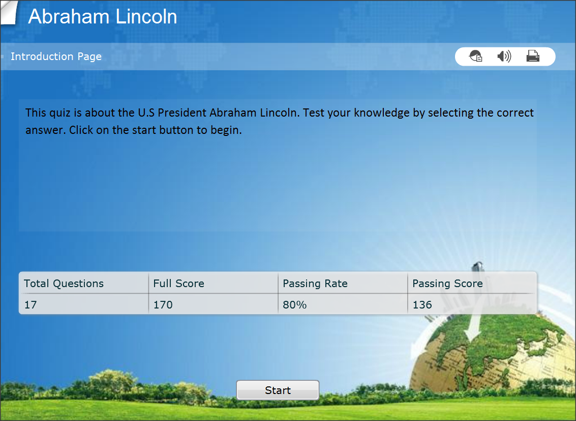 Interesting History Quiz Questions,  the Life of Abraham Lincoln