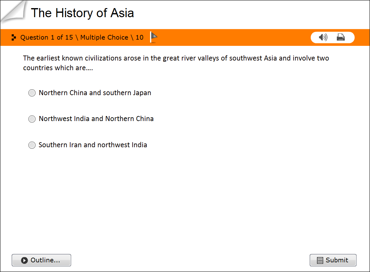 Study the History of Asia -Quiz Test Questions online